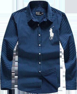 Camisa Social Polo Ralph Lauren Masculina Xadrez Azul Marinho ... 6318bc387c7