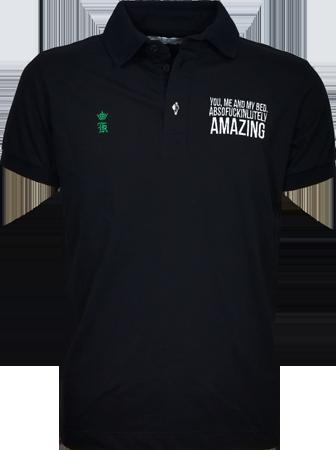 1b51ad139c Camisa Polo Sergio K. Masculina Preta - ESTILUXO Outlet Virtual ...