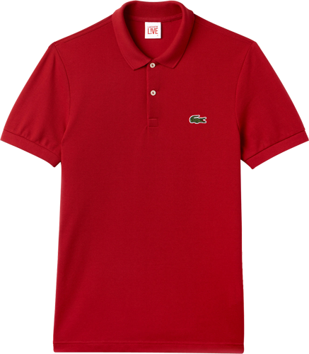f99b7522f60 Camisa Polo Lacoste L!VE Masculina Vermelha - ESTILUXO Outlet ...