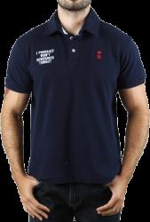 Camisa Polo Sergio K. Masculina Azul Marinho