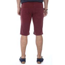 Bermuda Jeans Confort Sawary Masculina Vinho