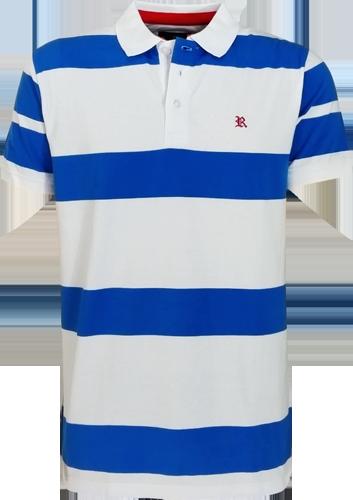 99a6e70a4c Camisa Polo Resumo Masculina Listrada Azul Branca - ESTILUXO Outlet ...