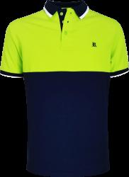Camisa Polo Resumo Masculina Verde/Marinho