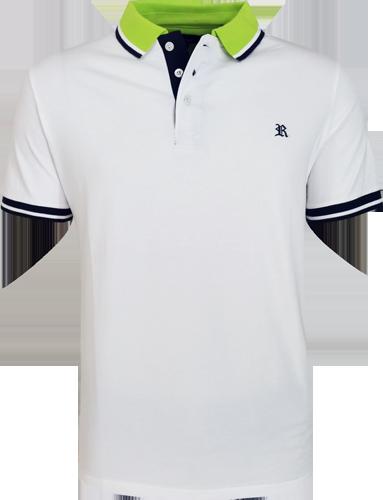 7c54845d44 Camisa Polo Resumo Masculina Branca - ESTILUXO Outlet Virtual ...