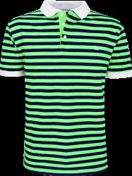 Camisa Polo Resumo Masculina Listrada Verde/Marinho