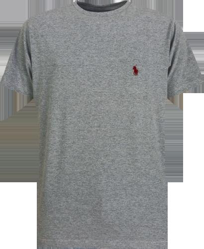 Camiseta Polo Ralph Lauren Masculina Cinza Escuro - ESTILUXO Outlet ... e78d7608b01