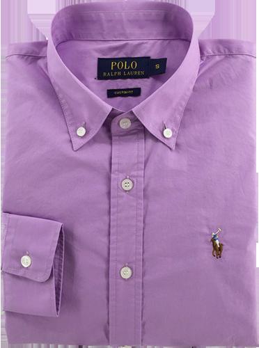 Camisa Social Polo Ralph Lauren Masculina Lilás - ESTILUXO Outlet ... f817ecbfe603b