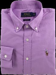Camisa Social Polo Ralph Lauren Masculina Lilás