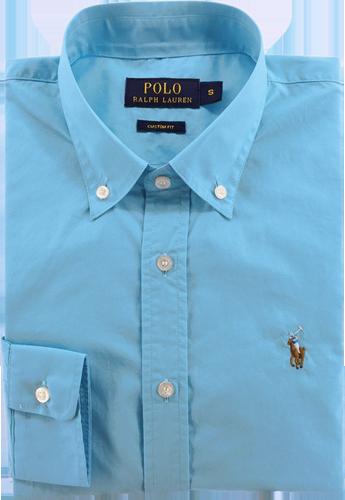 ea7514af32 Camisa Social Polo Ralph Lauren Masculina Azul Claro - ESTILUXO ...