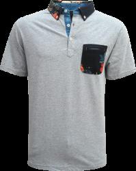 Camisa Polo Resumo Masculina Cinza