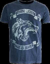 Camiseta Lobo Estampado Masculina Azul