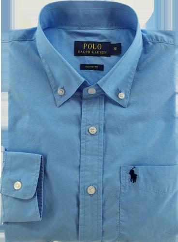 Camisa Social Polo Ralph Lauren Masculina Azul Claro - ESTILUXO ... f054fe24f42fa
