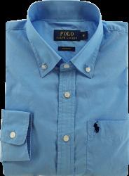 Camisa Social Polo Ralph Lauren Masculina Azul Claro
