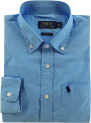 e5f277011fb5f Camisa Social Polo Ralph Lauren Masculina Azul Claro