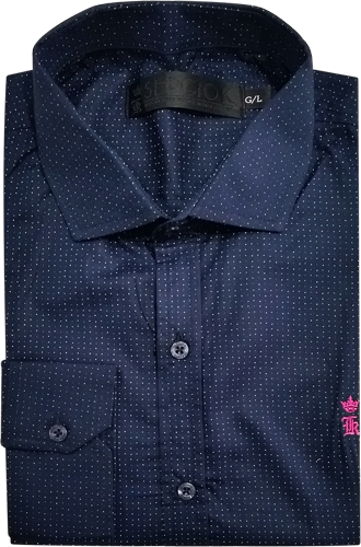 Camisa Social Sergio K. Masculina Azul Marinho - ESTILUXO Outlet ... d774ac24c88