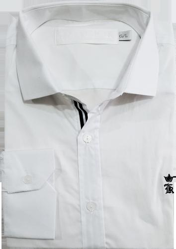 54bd1afced Camisa Social Sergio K. Masculina Branca - ESTILUXO Outlet Virtual ...
