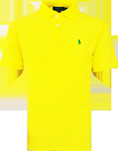 Camisa Polo Ralph Lauren Masculina Amarela - ESTILUXO Outlet Virtual ... 004ca639632