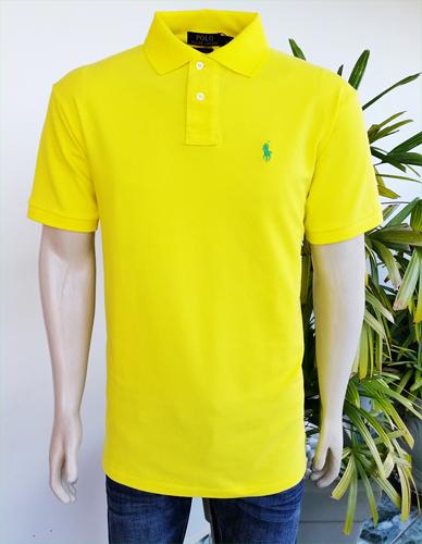 0b9f6744b8666 Camisa Polo Ralph Lauren Masculina Amarela - ESTILUXO Outlet Virtual ...