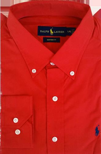 e9c2d28d77 Camisa Social Polo Ralph Lauren Masculina Vermelha - ESTILUXO Outlet ...