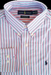 Camisa Social Polo Ralph Lauren Masculina Listrada Branca
