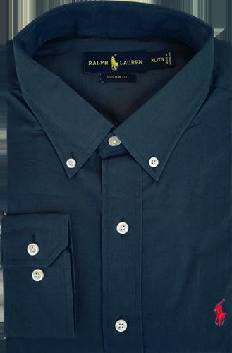 Camisa Social Polo Ralph Lauren Masculina Azul Marinho - ESTILUXO ... e3868cc32df