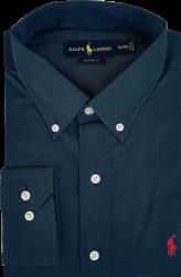 Camisa Social Polo Ralph Lauren Masculina Azul Marinho