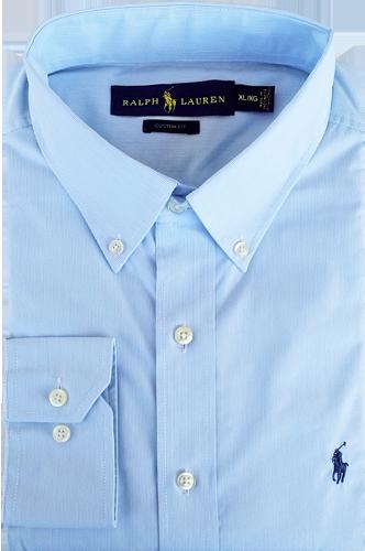 Camisa Social Polo Ralph Lauren Masculina Listrada Azul Claro Branca ... b4968eb4810