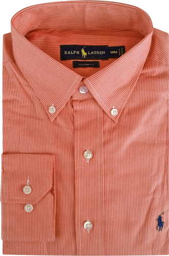 7712a0fa4d Camisa Social Polo Ralph Lauren Masculina Listrada Vermelha Branca ...
