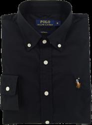 Camisa Social Polo Ralph Lauren Masculina Oxford Preta