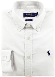 Camisa Social Polo Ralph Lauren Masculina Branca