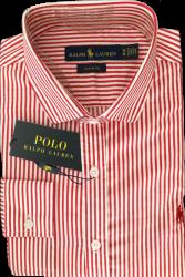 2f5cfaf51cff4 Camisa Social Polo Ralph Lauren Masculina Listrada Vermelha Branca
