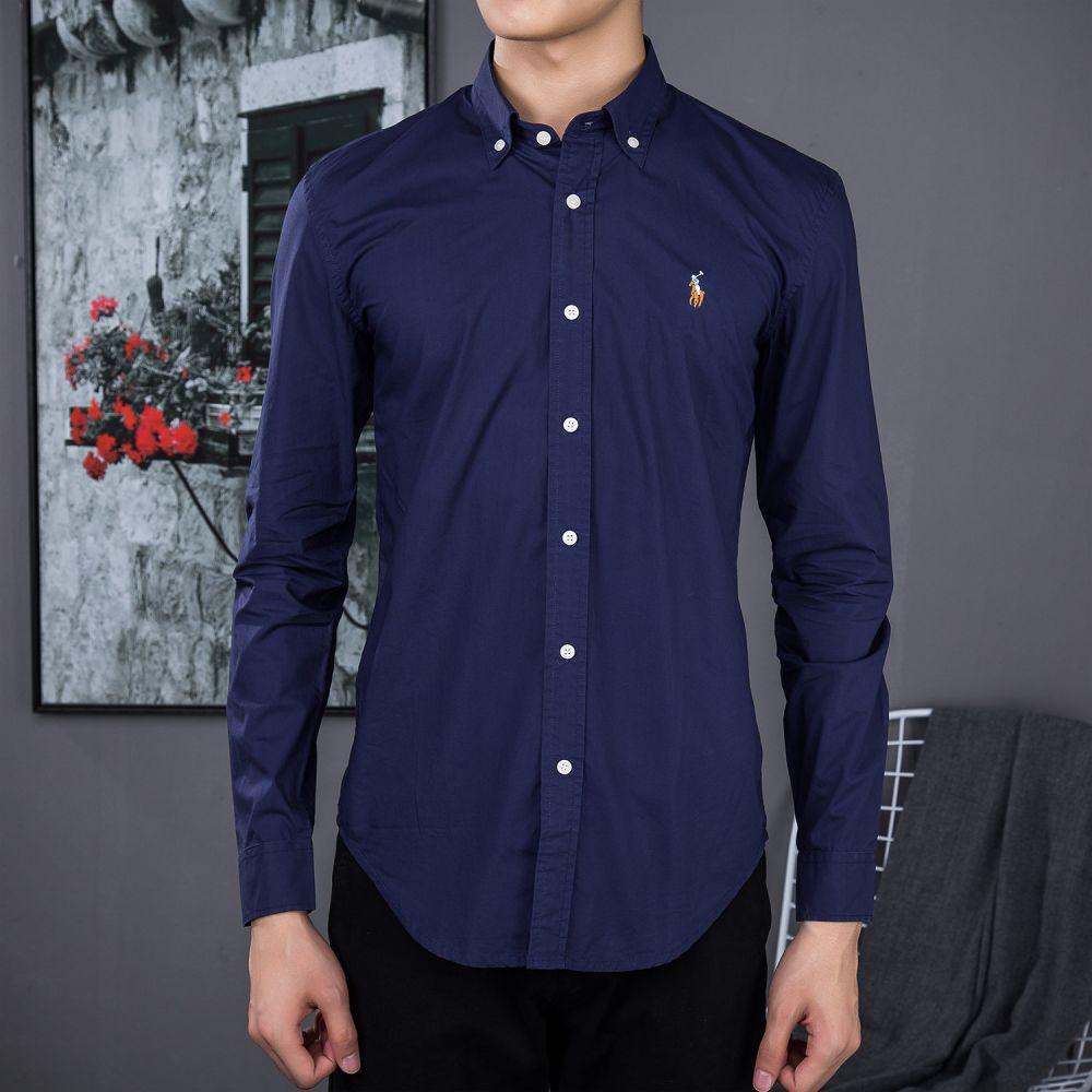 Camisa Social Polo Ralph Lauren Masculina Oxford Azul Marinho. Clique ... 3aab32dc56e60