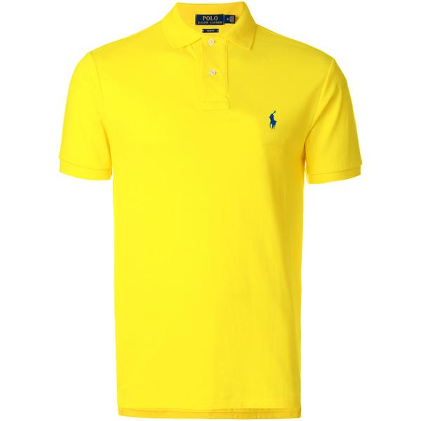 Camisa Polo Ralph Lauren Masculina Amarela - ESTILUXO Outlet Virtual ... 045c64a0e9215