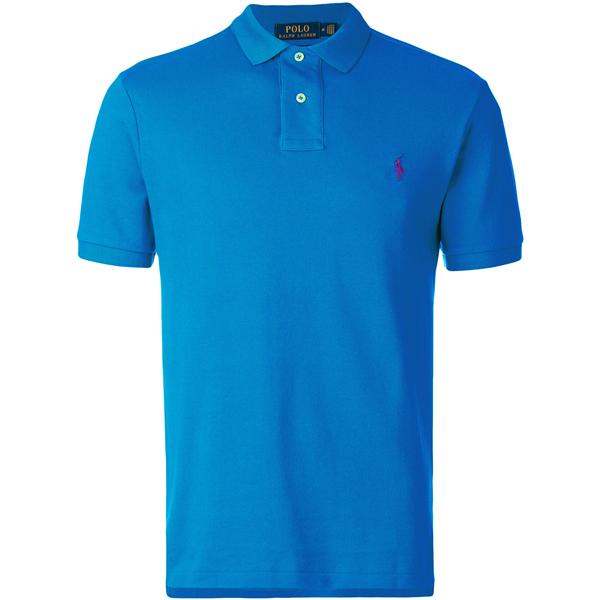 Camisa Polo Ralph Lauren Masculina Azul Claro - ESTILUXO Outlet ... 920179defcd