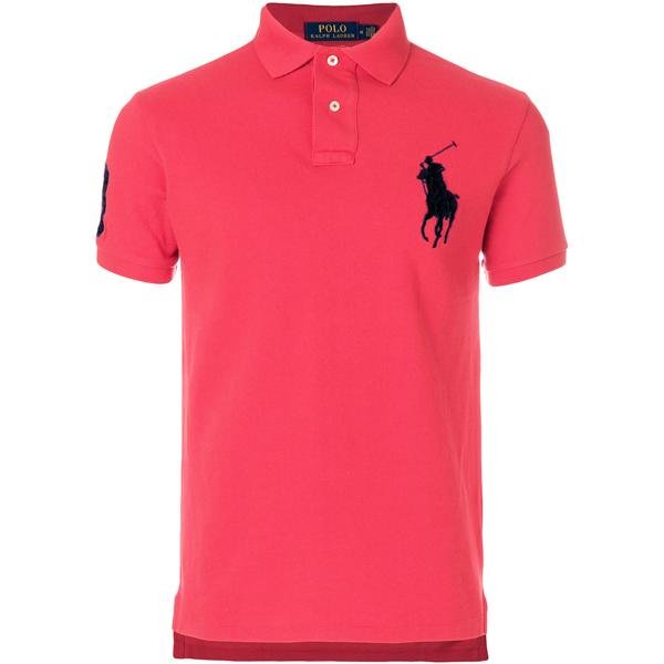 30a195097ce0a Camisa Polo Ralph Lauren Masculina Rosa Pink - ESTILUXO Outlet ...