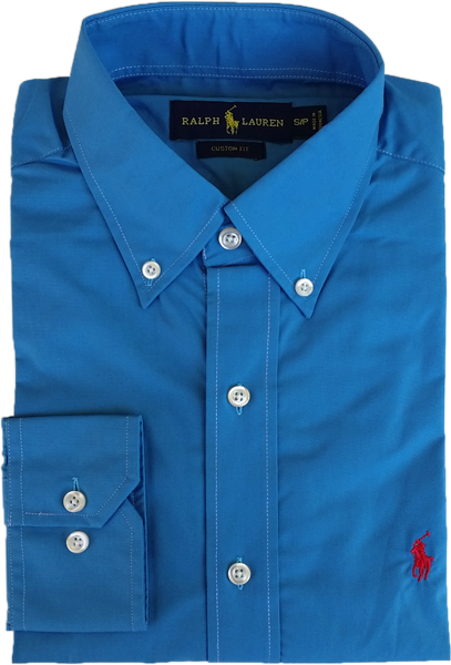 f6f1d90d8b9a8 Camisa Social Polo Ralph Lauren Masculina Azul Petróleo - ESTILUXO ...