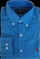 Camisa Social Polo Ralph Lauren Masculina Azul Petróleo