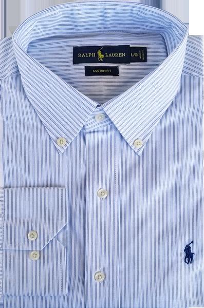 Camisa Social Polo Ralph Lauren Masculina Listrada Branca Azul ... 9c6f4fc759e