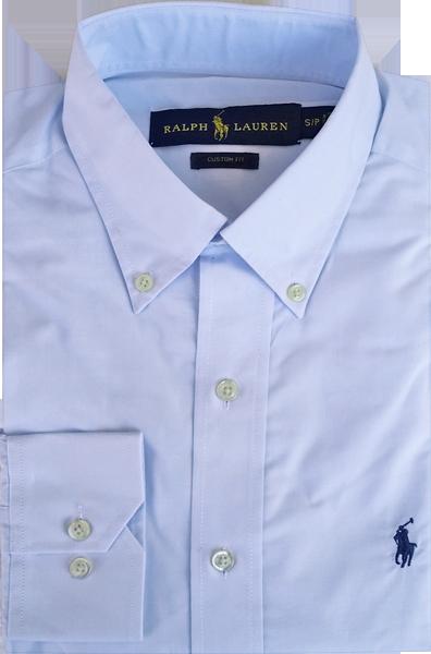 a9a3262b4e Camisa Social Polo Ralph Lauren Masculina Azul Claro - ESTILUXO ...