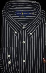 Camisa Social Polo Ralph Lauren Masculina Listrada Preta