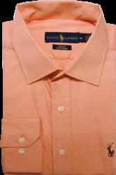 bfa20bc8d4565 Camisa Social Polo Ralph Lauren Masculina Laranja Claro