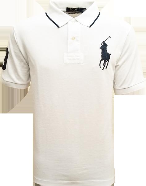 b95fa3c368 Camisa Polo Ralph Lauren Masculina Branca - ESTILUXO Outlet Virtual ...