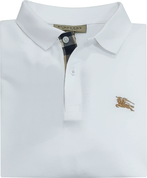 Camisa Polo Burberry Masculina Branca - ESTILUXO Outlet Virtual ... 8e9916b3e25