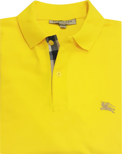 Camisa Polo Burberry Masculina Amarela - ESTILUXO Outlet Virtual ... 468a320861