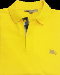 Camisa Polo Burberry Masculina Amarela
