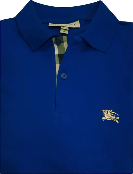 30422a2b1d Camisa Polo Burberry Masculina Azul - ESTILUXO Outlet Virtual ...