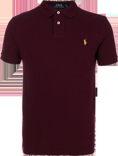 Camisa Polo Ralph Lauren Masculina Vinho - ESTILUXO Outlet Virtual ... 56ab7c830e6b7