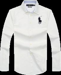 9c3772df7b19a Camisa Social Polo Ralph Lauren Masculina Oxford Branca