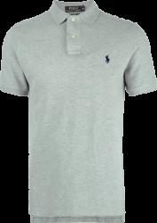 Camisa Polo Ralph Lauren Masculina Cinza Claro