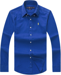 Camisa Social Polo Ralph Lauren Masculina Oxford Azul